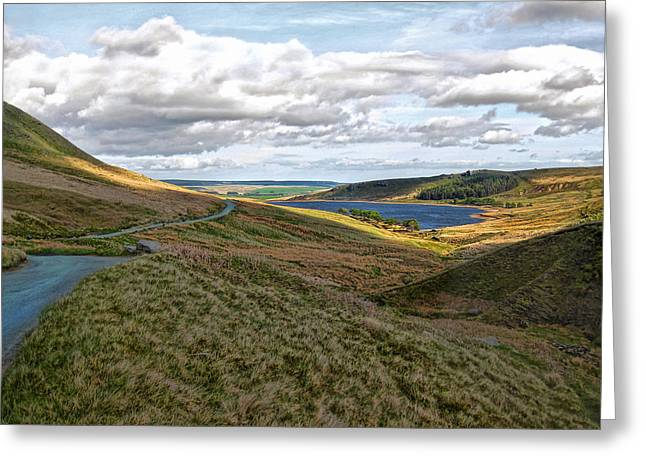 Winding Through West Yorkshire Bronte Country Greeting Card