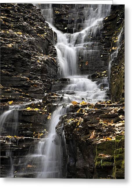 Winding Waterfall Greeting Card