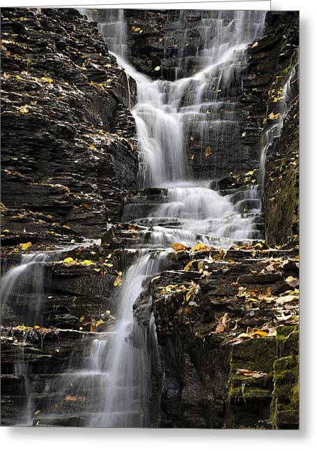 Winding Waterfall Greeting Card