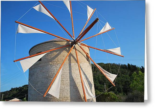 Windmill  2 Greeting Card by George Katechis