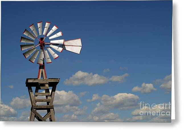 Windmill-5764b Greeting Card by Gary Gingrich Galleries