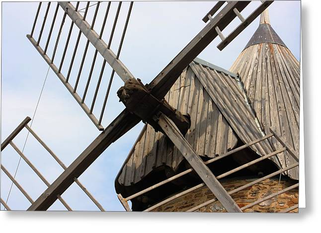 Windmill Greeting Card by Carrie Warlaumont