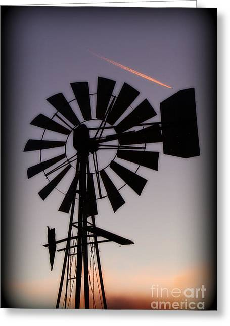 Greeting Card featuring the photograph Windmill Close-up by Jim McCain