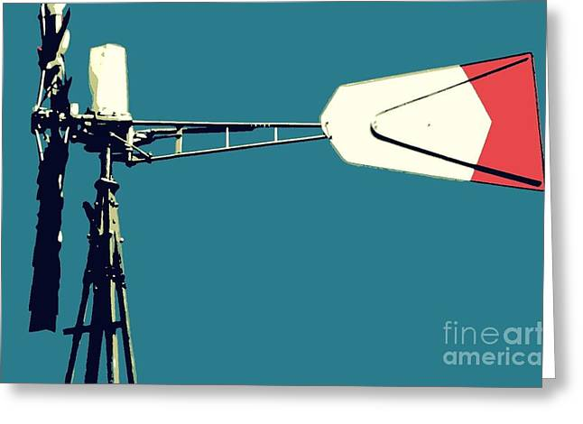 Greeting Card featuring the digital art Windmill 2 by Valerie Reeves