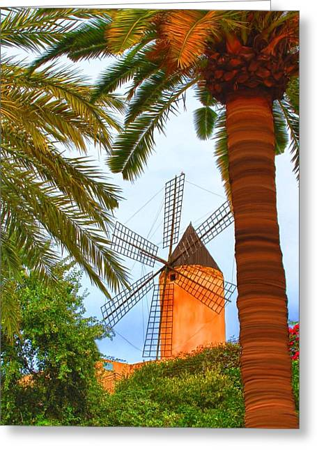 Windmill In Palma De Mallorca Greeting Card
