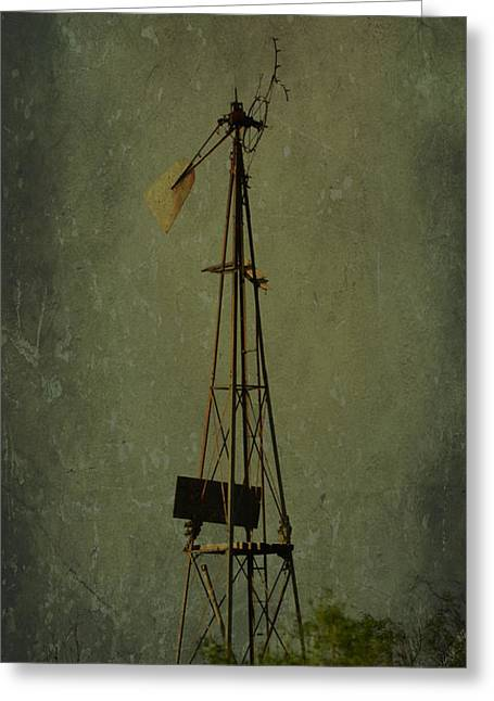 Windmill In Summer Greeting Card by Mikki Cromer