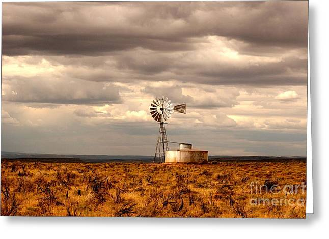 Windmill Greeting Card by Kathlene Pizzoferrato