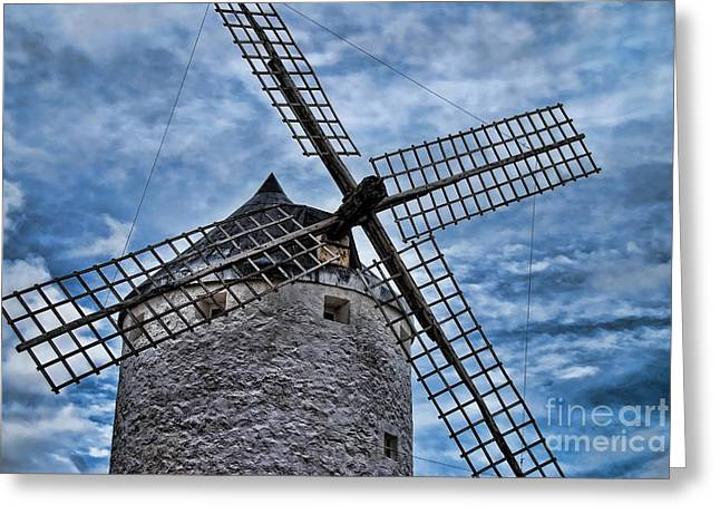Windmill Of La Mancha Greeting Card