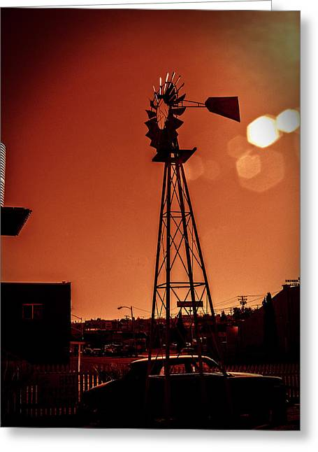 Greeting Card featuring the photograph Windmill On Route66 by William Havle