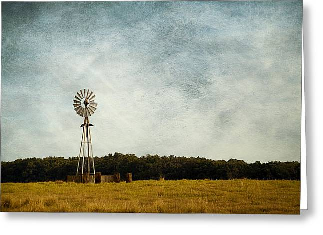 Windmill On The Farm Greeting Card