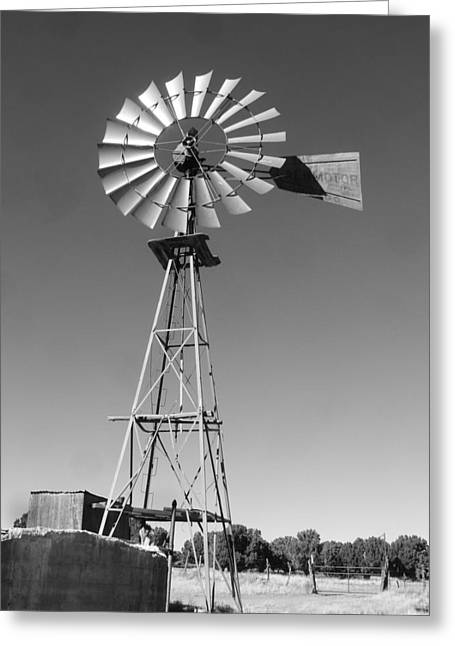 Windmill On The Range Greeting Card