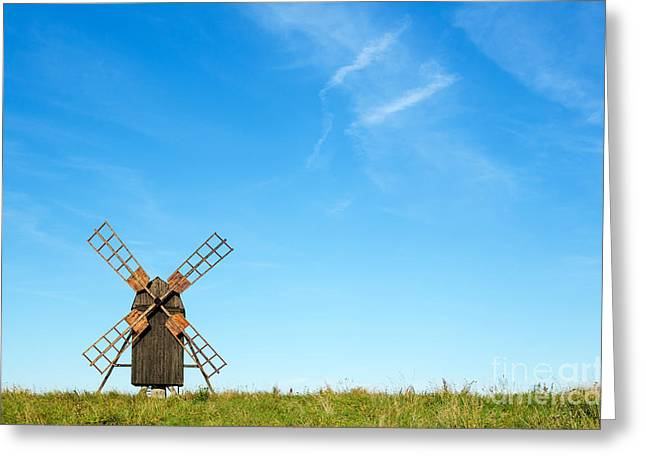 Windmill Portrait Greeting Card