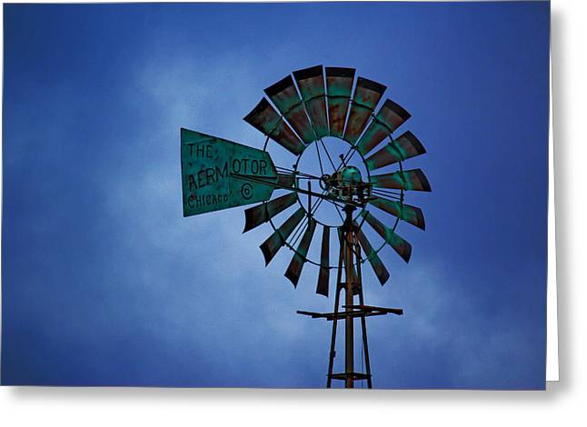 Windmill Greeting Card by Rowana Ray