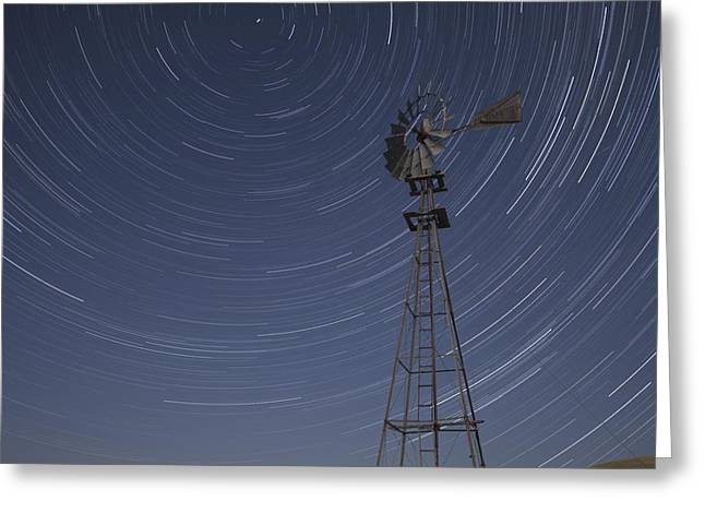 Windmill Stars Greeting Card by Latah Trail Foundation