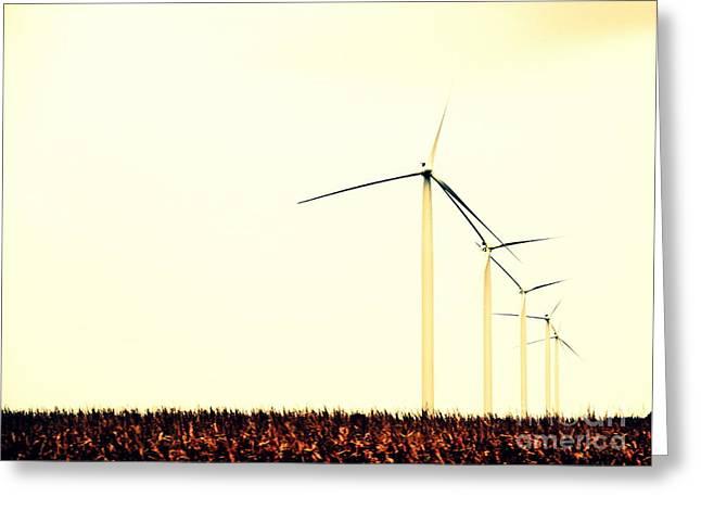 Windmills 1 Greeting Card by A K Dayton