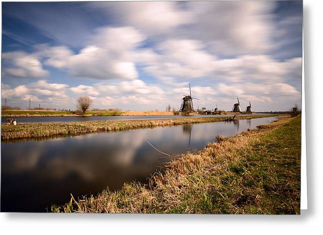 Windmills And Wind Greeting Card
