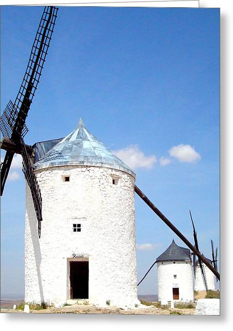 Windmills Greeting Card by Kay Gilley