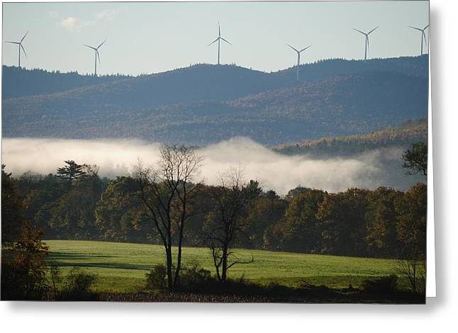 Greeting Card featuring the photograph Windmills by Paul Noble