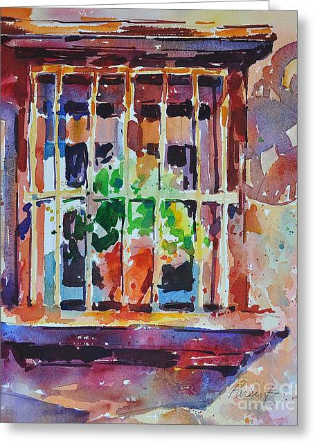 Greeting Card featuring the painting Window And Cast Shadow by Roger Parent