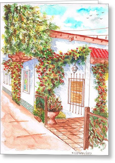 Window And Plants In San Luis Obispo - California Greeting Card