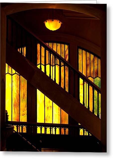 Window Art Greeting Card by Dale Stillman