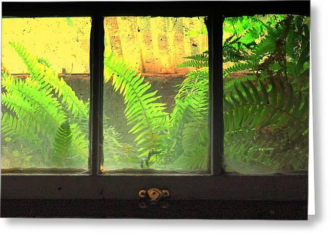 Window Art Greeting Card by Jeri lyn Chevalier