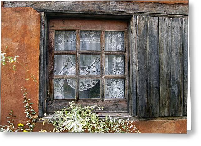 Window At Old Santa Fe Greeting Card