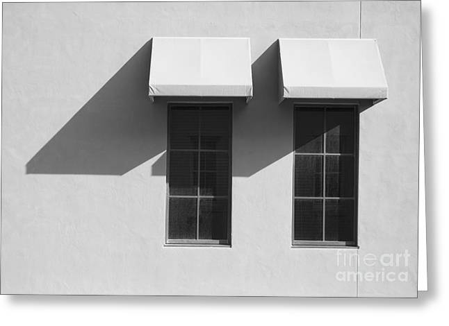 Window Awnings Shadows Greeting Card