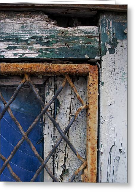 Window Corner Greeting Card by Gretchen Lally