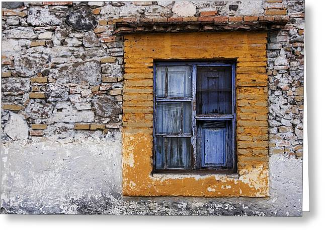 Window Detail Mexico Greeting Card by Carol Leigh