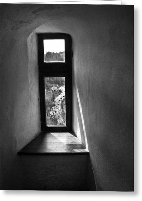 Window Dracula's Castle Interior204 Greeting Card by Dorin Stef