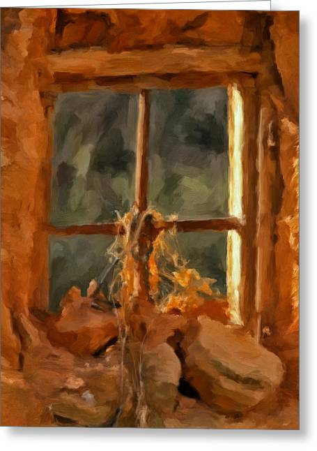 Window From The Past Greeting Card by Michael Pickett