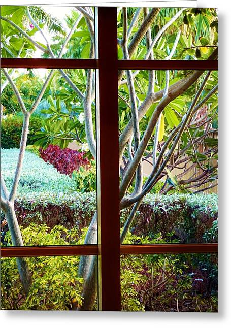 Greeting Card featuring the photograph Window Garden by Amar Sheow