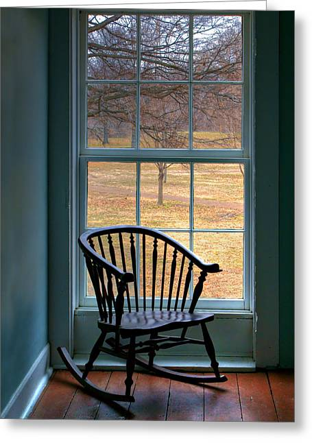 Window In Florissant Greeting Card by Nikolyn McDonald