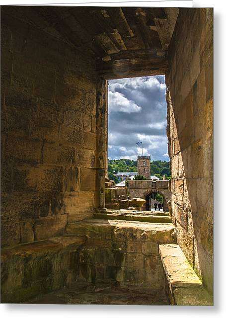 Window In Linlithgow Palace Greeting Card