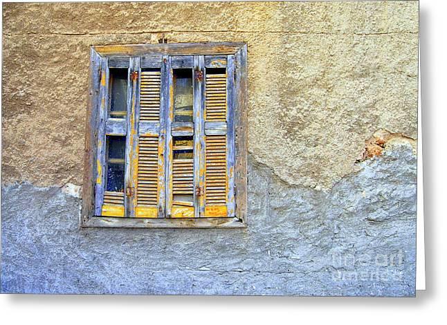 Window Nafplio Greeting Card