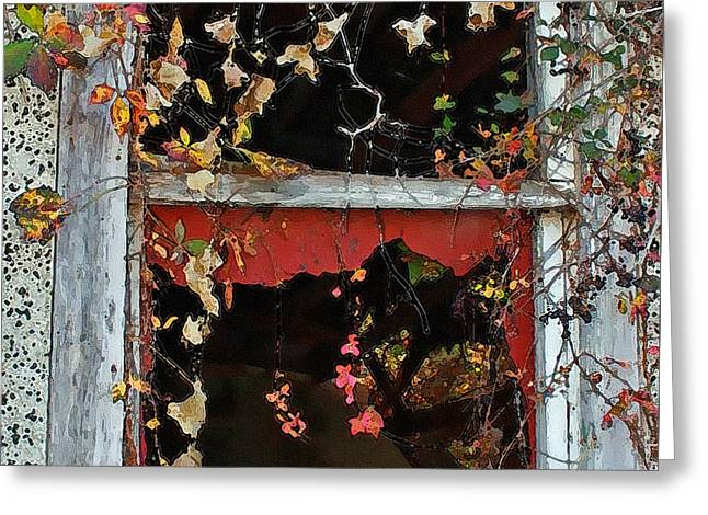 Greeting Card featuring the photograph Window Of A Time Gone By by Ellen Tully