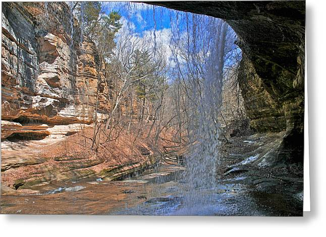 Window Of A Waterfall Greeting Card by Kathleen Scanlan