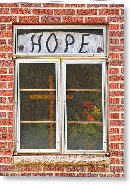 Window Of Hope 2 Greeting Card by James BO  Insogna