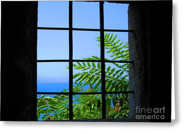 Greeting Card featuring the photograph Window Of Hope by Andreas Thust