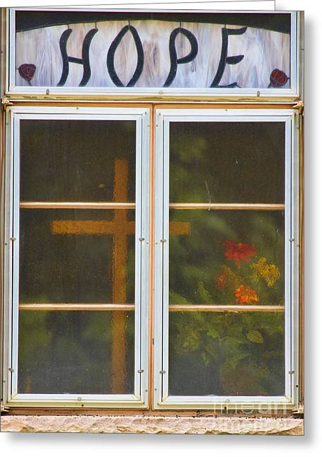 Window Of Hope Greeting Card by James BO  Insogna