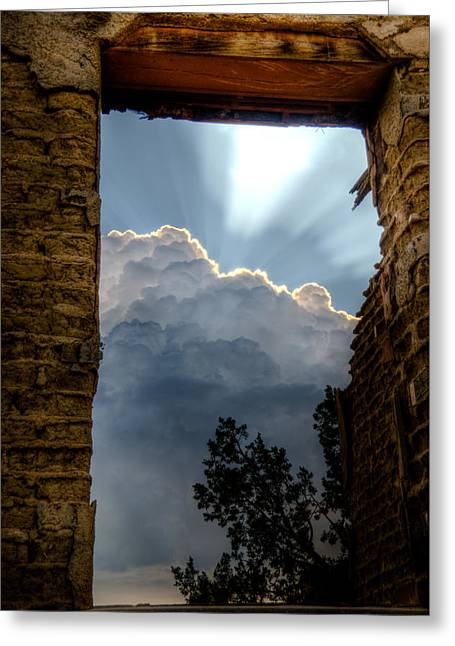 Window Of Hope Greeting Card by Roch Hart