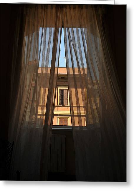 Window On Rome Greeting Card