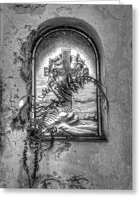 Window On The Crypt Greeting Card