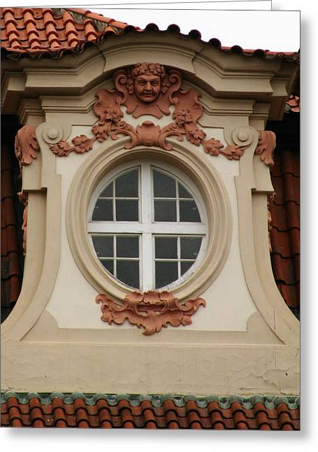 window Prague Greeting Card