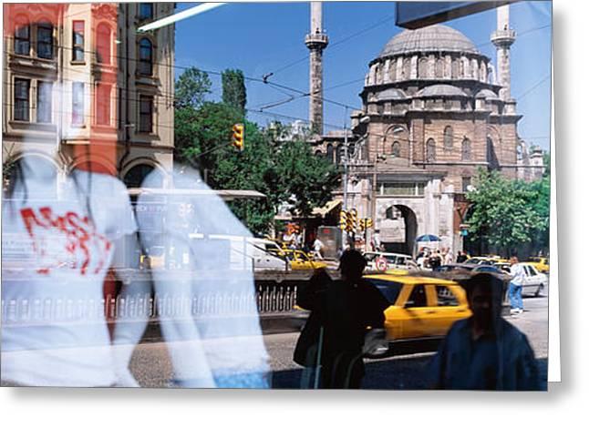 Window Reflection, Istanbul, Turkey Greeting Card