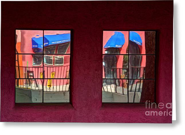 Window Reflections Greeting Card by Vivian Christopher