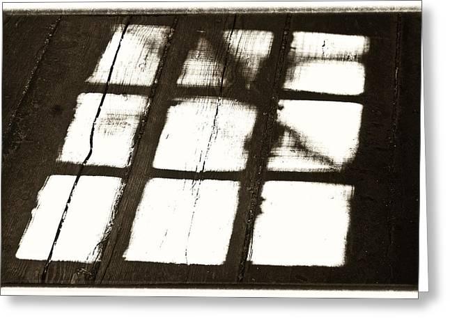 Window Shadow Greeting Card by Craig Brown