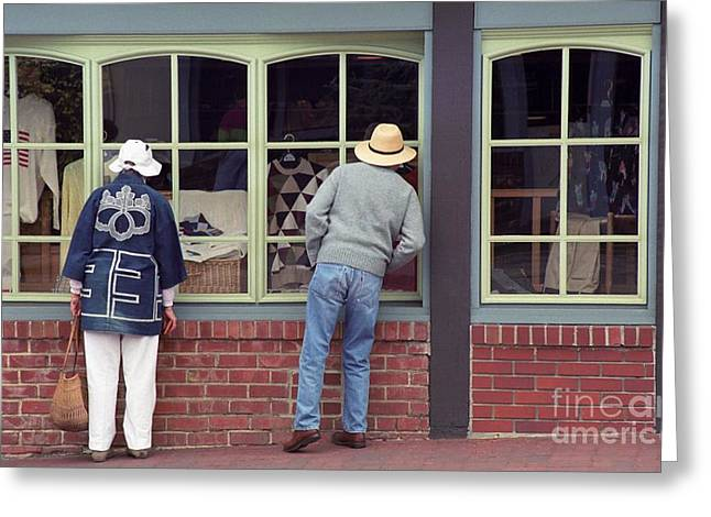 Window Shoppers Greeting Card