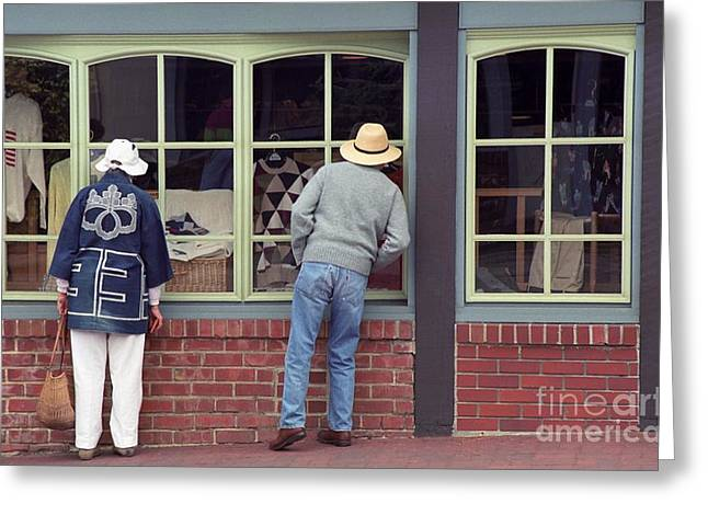 Greeting Card featuring the photograph Window Shoppers by James B Toy
